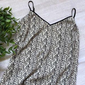 Sanctuary Brushstroke Chevron Print Midi Dress